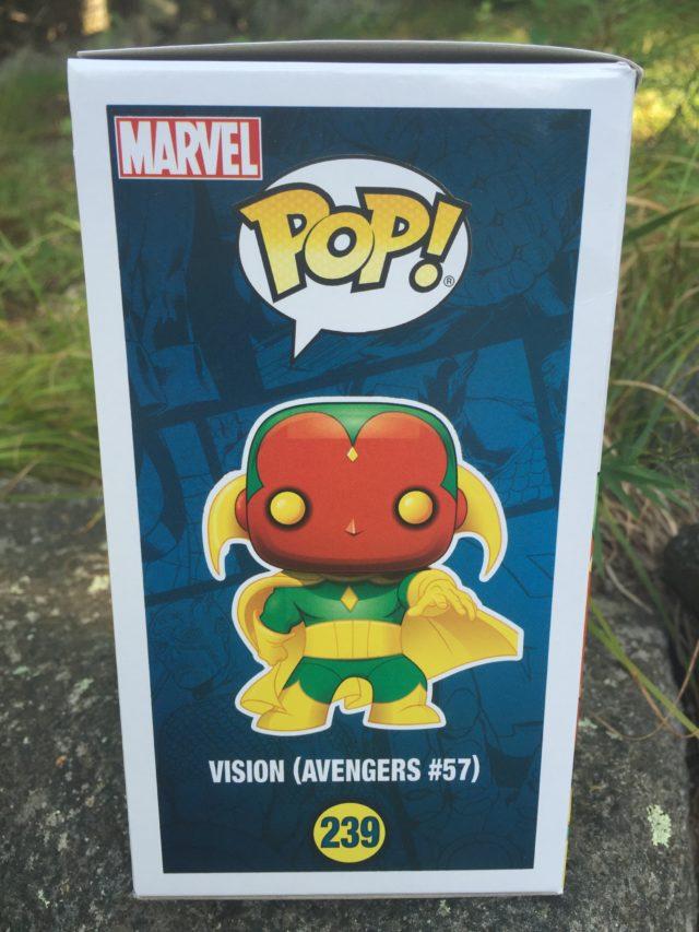 Box Side MCC Vision POP Vinyl Comic Book Based