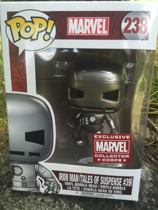 Funko Marvel POP 238 First Appearance Iron Man in Box