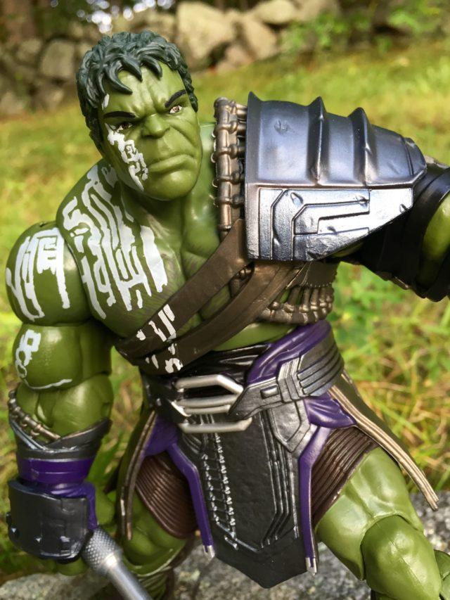 Close-Up of Marvel Legends Hulk Build-A-Figure Head Ragnarok