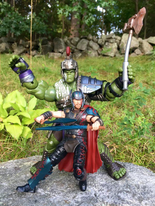 "Gladiator Hulk BAF Size Comparison with 6"" Thor 3"