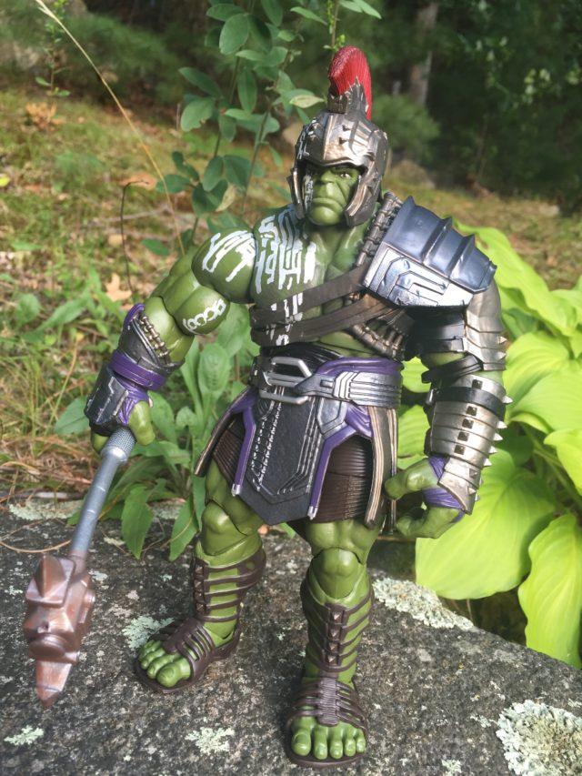 Side View of Gladiator Hulk Marvel Legends Build-A-Figure
