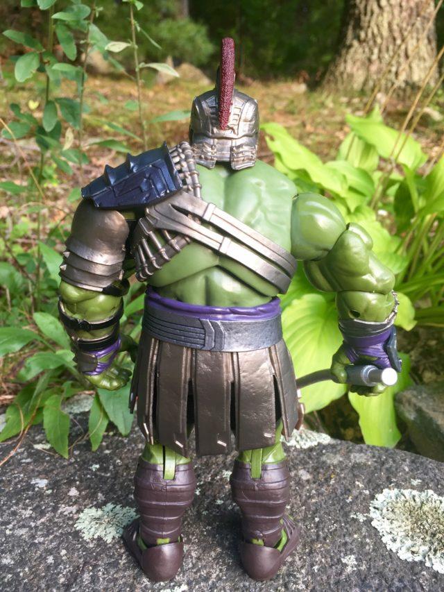 Back of Gladiator Hulk Legends Action Figure