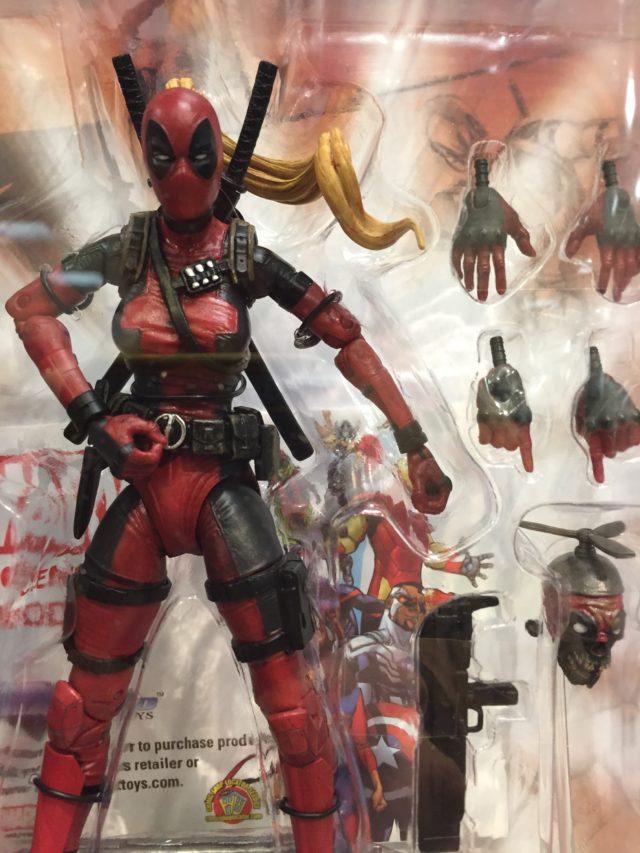 "Close-Up of Diamond Select Lady Deadpool 7"" Figure"