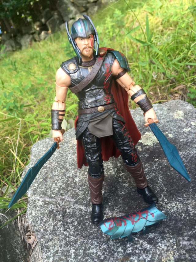 "Removable Leg Armor from Hasbro Gladiator Thor 6"" Figure"