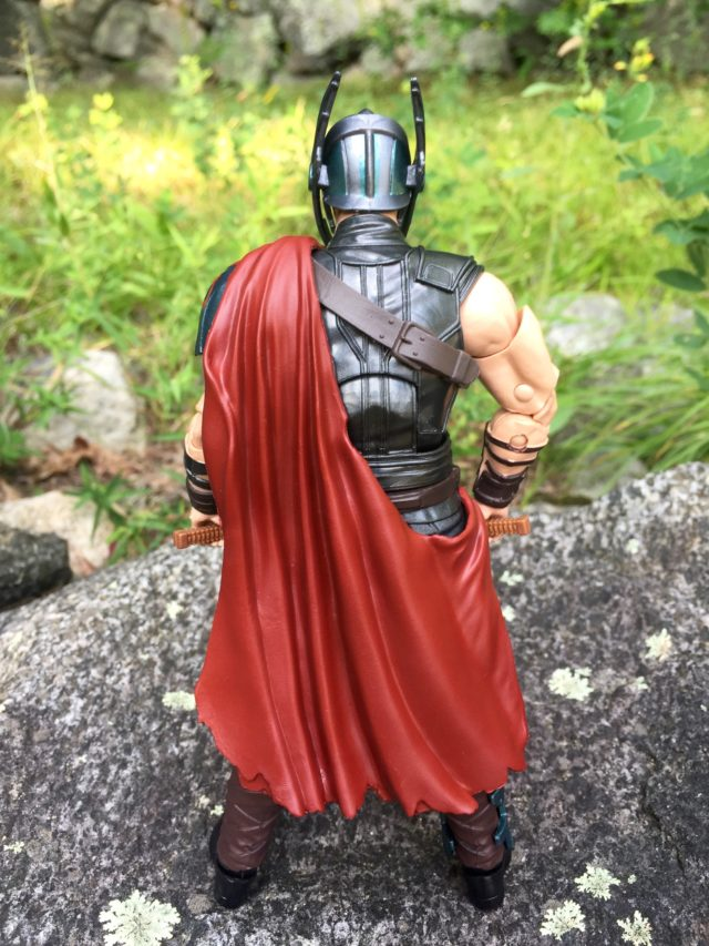 Back of Marvel Legends Thor Ragnarok Gladiator Thor Cape