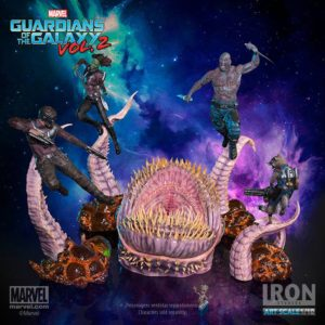 Iron Studios Guardians of the Galaxy vs. The Obelisk Statues