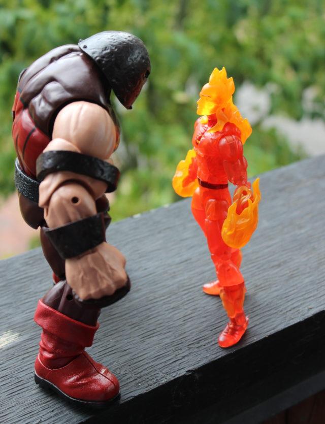 Marvel Legends Exclusive Human Torch vs Juggernaut