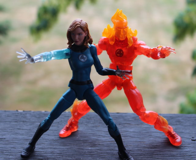 Marvel Legends Invisible Woman and Human Torch Fantastic Four Figures