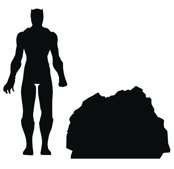 Marvel Select Black Panther Movie Figure Silhouette