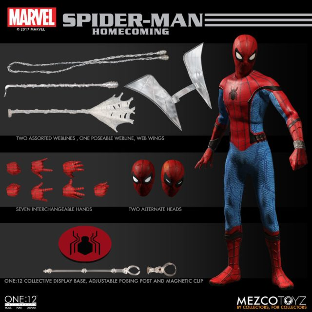Mezco Toys ONE 12 Collective Spider-Man Homecoming Figure and Accessories