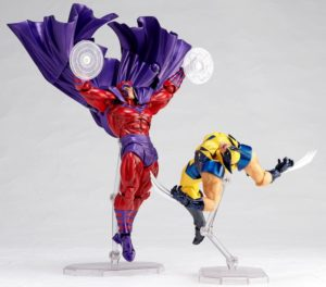 Revoltech Magneto and Wolverine X-Men Figures 6 Inch
