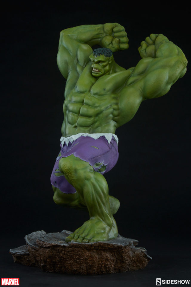 Side View of Avengers Assemble Sideshow Hulk Statue