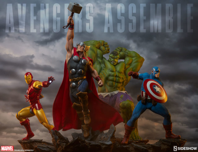 Sideshow Collectibles Avengers Assemble Series Hulk Thor Iron Man Captain America