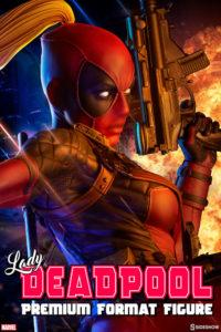 Sideshow Lady Deadpool Premium Format Figure Statue Poster