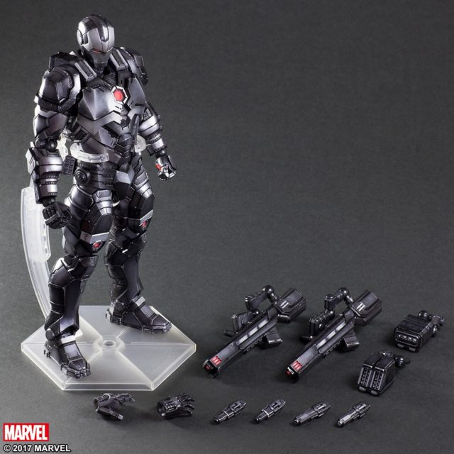 War Machine Play Arts Kai Figure and Accessories