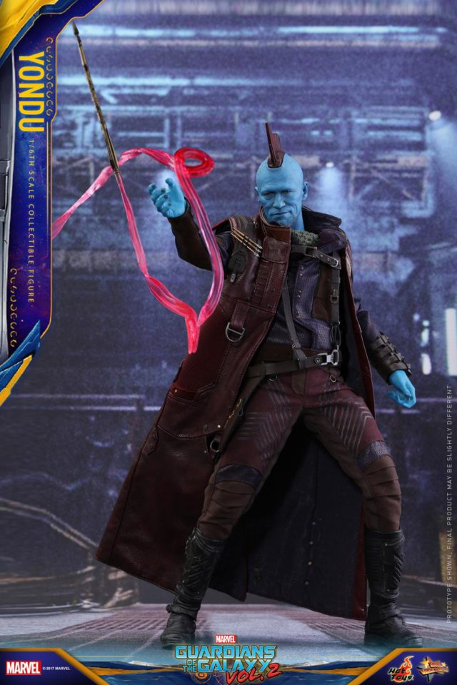Yondu Hot Toys MMS 12 Inch Figure with Arrow Effects Piece