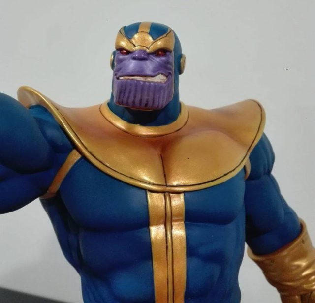 Close-Up of Marvel Premier Collection Statue Thanos Head