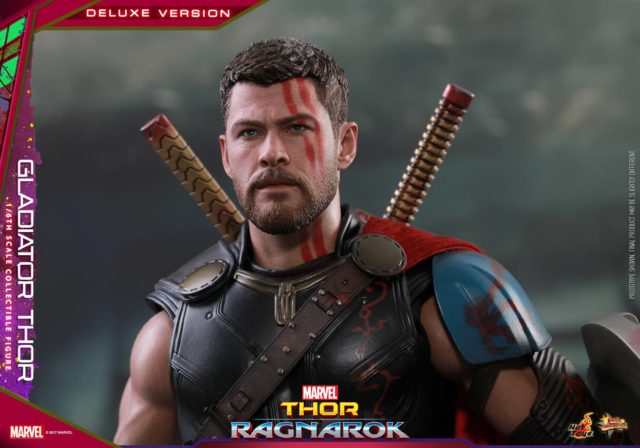 Close-Up of Thor Ragnarok Hot Toys Chris Hemsworth Portrait Head