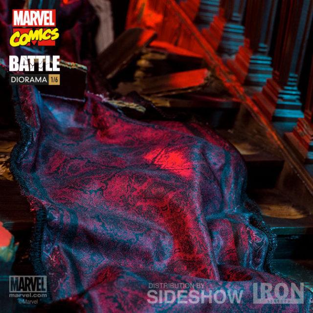 Cloth Carpeting on Wolverine vs Juggernaut Iron Studios Statue
