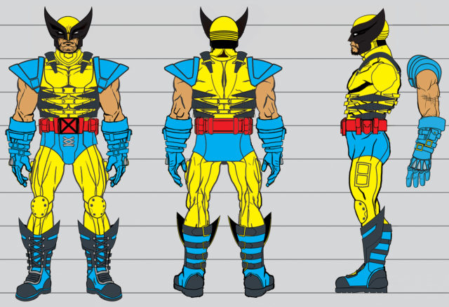 Concept Art for ONE 12 Collective Mezco Yellow Wolverine Figure