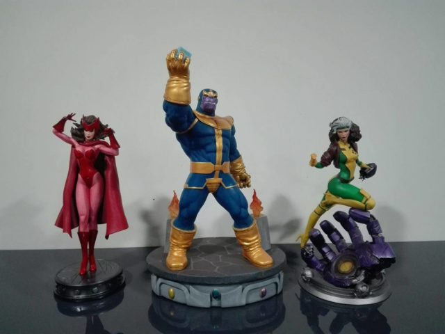 Diamond Select Toys Thanos Statue Scale Comparison with Koto Rogue Bowen Scarlet Witch