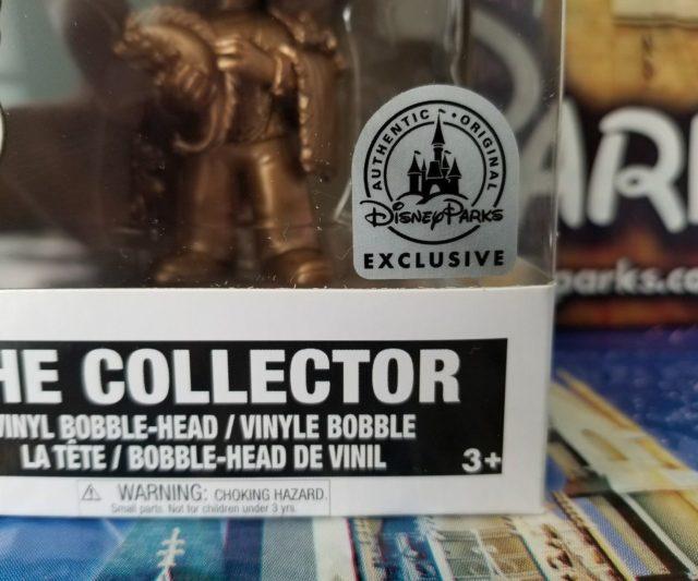 Disney Parks Exclusive Sticker on Funko POP Golden Collector Figure