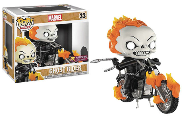 Funko POP Ghost Rider Motorcycle Set Previews Exclusive PX
