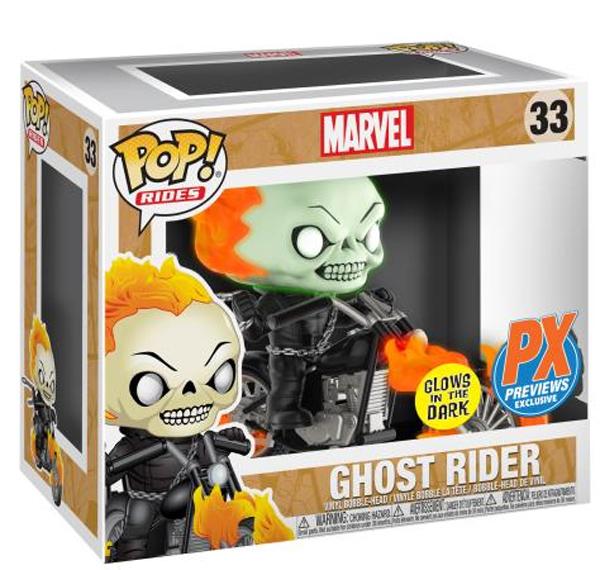 Funko POP Rides 33 GITD Ghost Rider Motorcycle Box