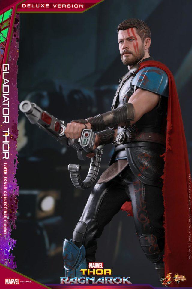 Gladiator Thor Hot Toys With Sakaar Rifle Gun