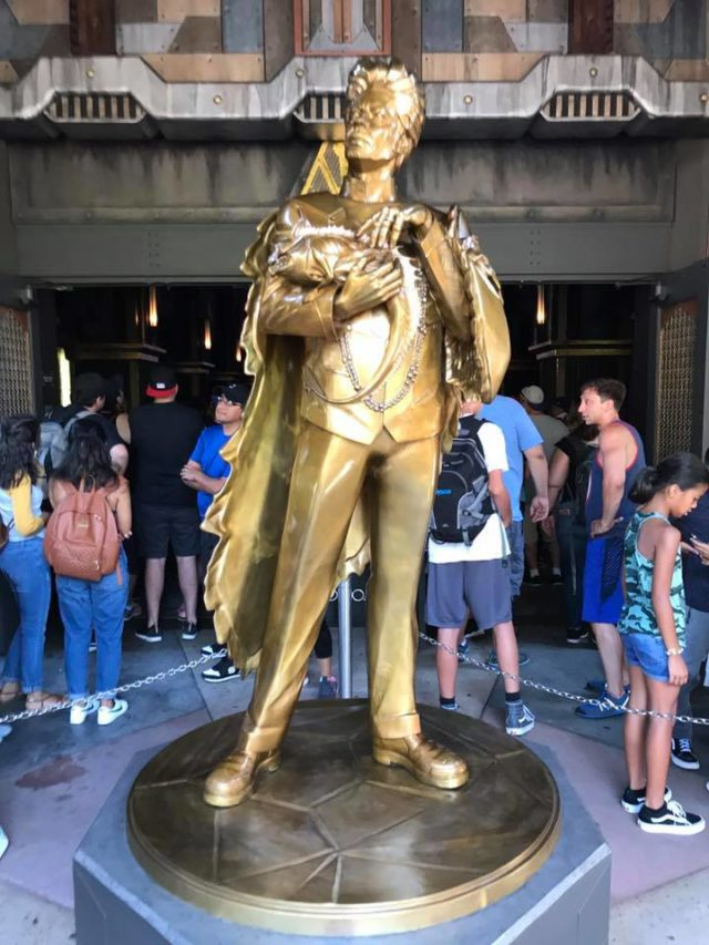 Gold Collector Statue at Guardians of the Galaxy Mission Breakout Ride California Adventure