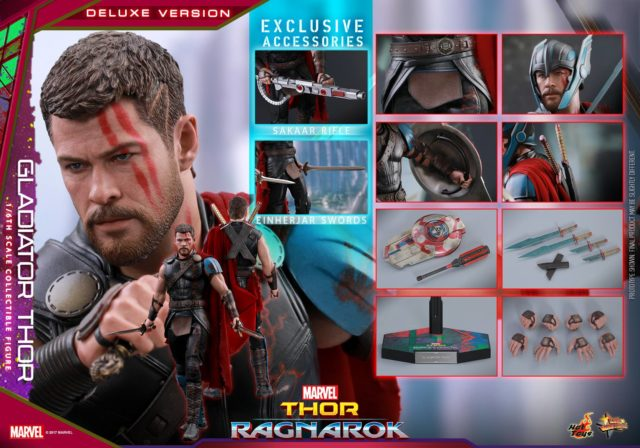 Hot Toys Gladiator Thor Figure and Accessories Deluxe Version