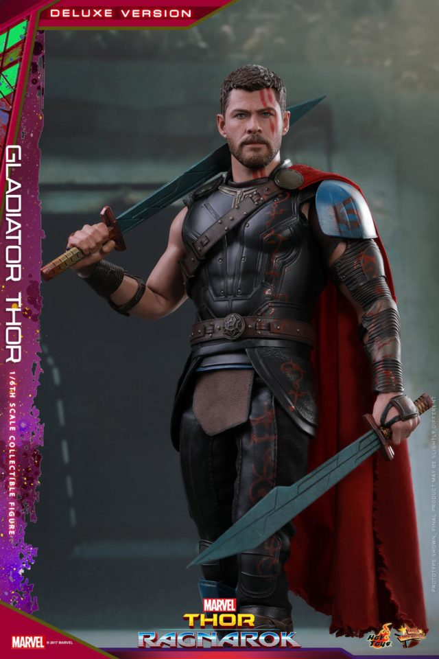 Hot Toys Gladiator Thor Movie Masterpiece Series 12 Inch Figure