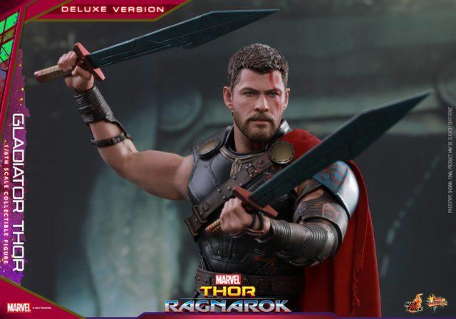 Hot Toys Ragnarok Gladiator Thor Dual Wielding Swords