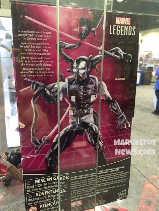 Marvel Legends Back in Black Deadpool Box Back Bio