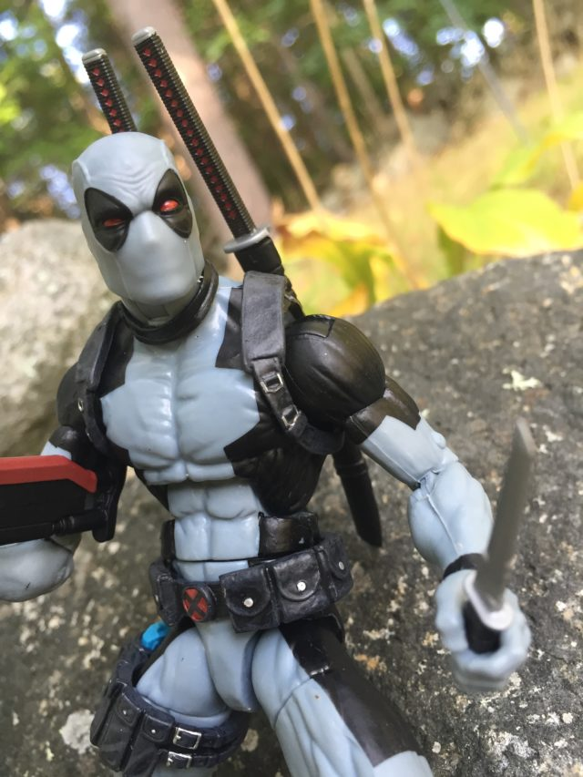 Close-Up of X-Force Deadpool Hascon Marvel Legends Exclusive