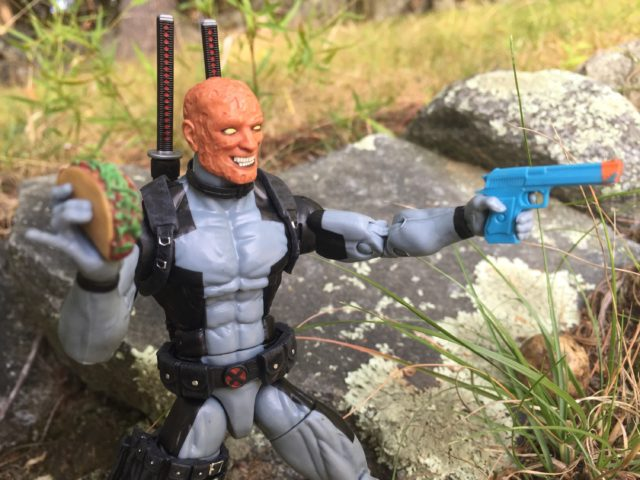Unmasked Head Deadpool Wade Wilson X-Force Costume Hasbro