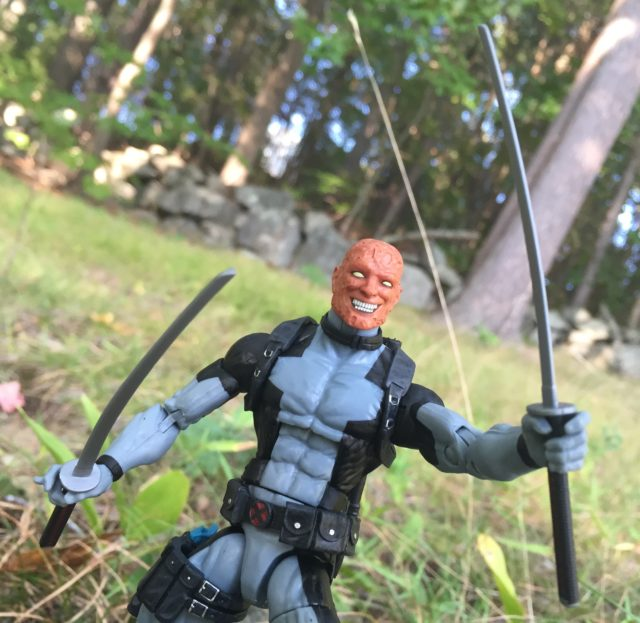 X-Force Deadpool Marvel Legends Exclusive Figure Swords Unmasked Head