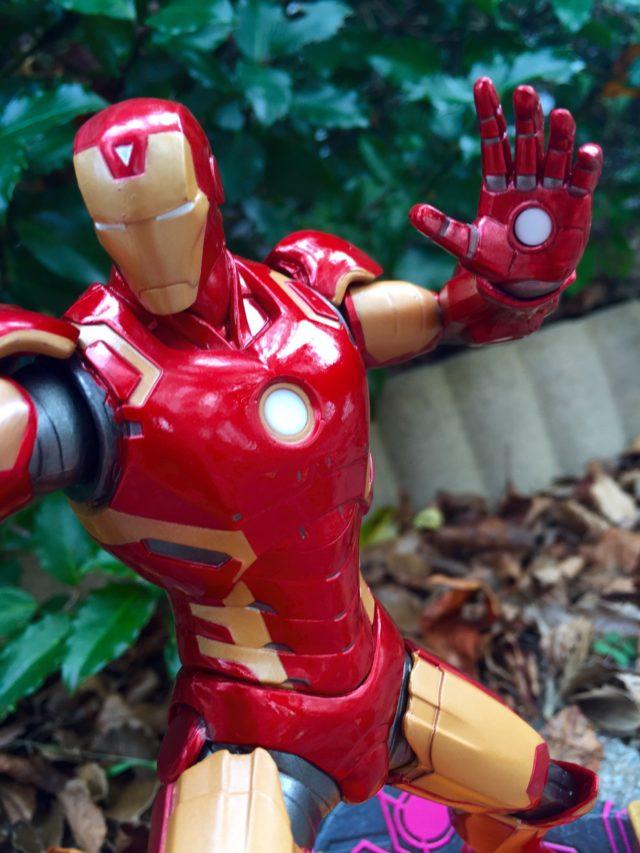 Close-Up of Marvel vs Capcom Iron Man Statue
