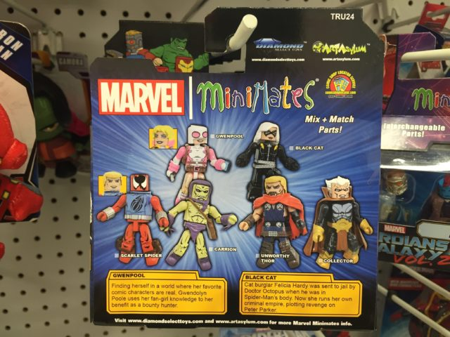Marvel Minimates Gwenpool Black Cat Box Back Bios