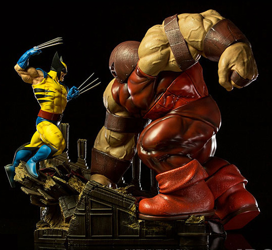 Iron Studios Juggernaut vs Wolverine Statue