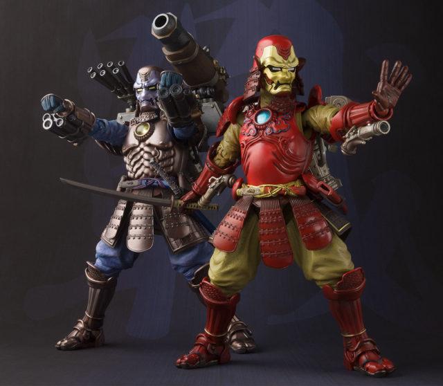Marvel Manga Realization Samurai War Machine and Iron Man Figures