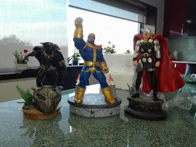 Marvel Premier Collection Thanos Size Comaprison with Kotobukiya Black Panther Bowen Thor