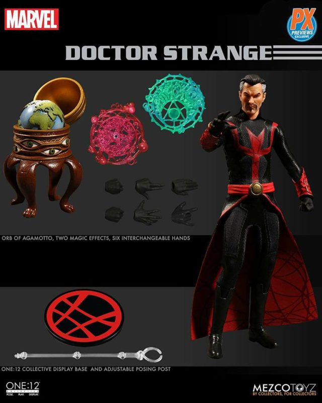 Mezco ONE 12 Collective Defenders Doctor Strange Figure and Accessories