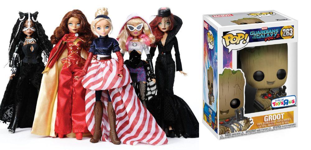 nycc 2017 toys r us exclusives  groot pop  u0026 fan girls dolls