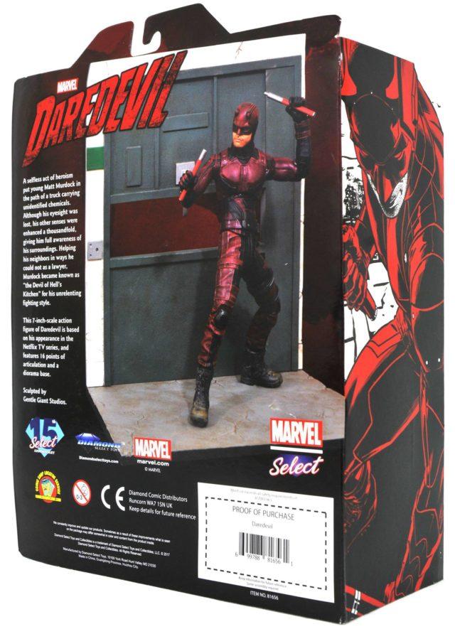 Netflix Daredevil Marvel Select Figure Packaging Back
