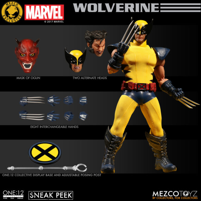 ONE 12 Collective Jim Lee Wolverine Figure and Accessories NYCC 2017 Exclusive