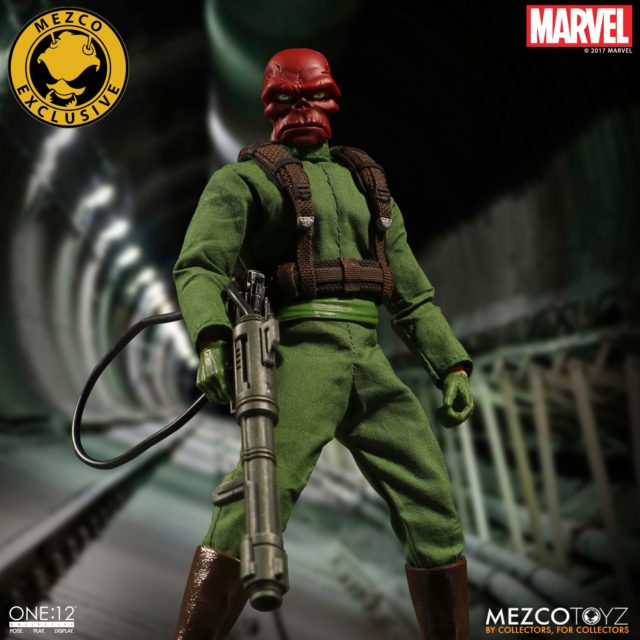 ONE 12 Collective Red Skull Classic Figure with Flamethrower Harness