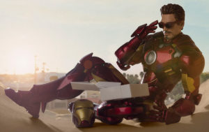 SH Figuarts Iron Man Mark 4 Figure Eating Donuts with Sunglasses