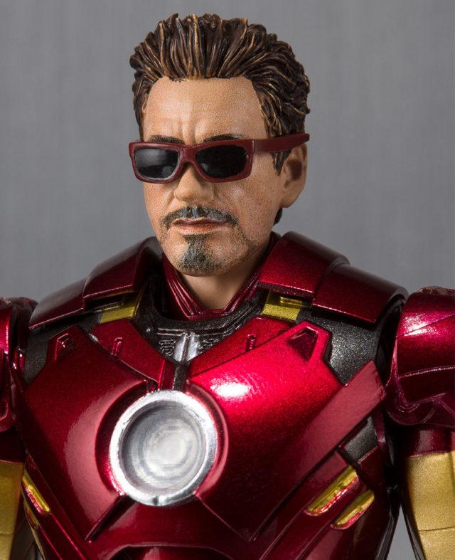 SH Figuarts Iron Man Mark IV Robert Downey Jr. Portrait with Sunglasses