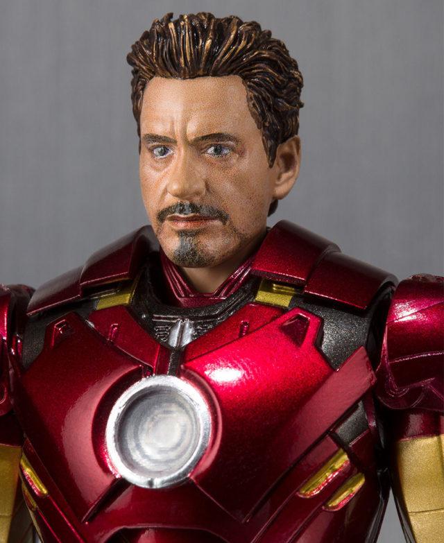 SH Figuarts Iron Man Mark IV Tony Stark Unmasked Head
